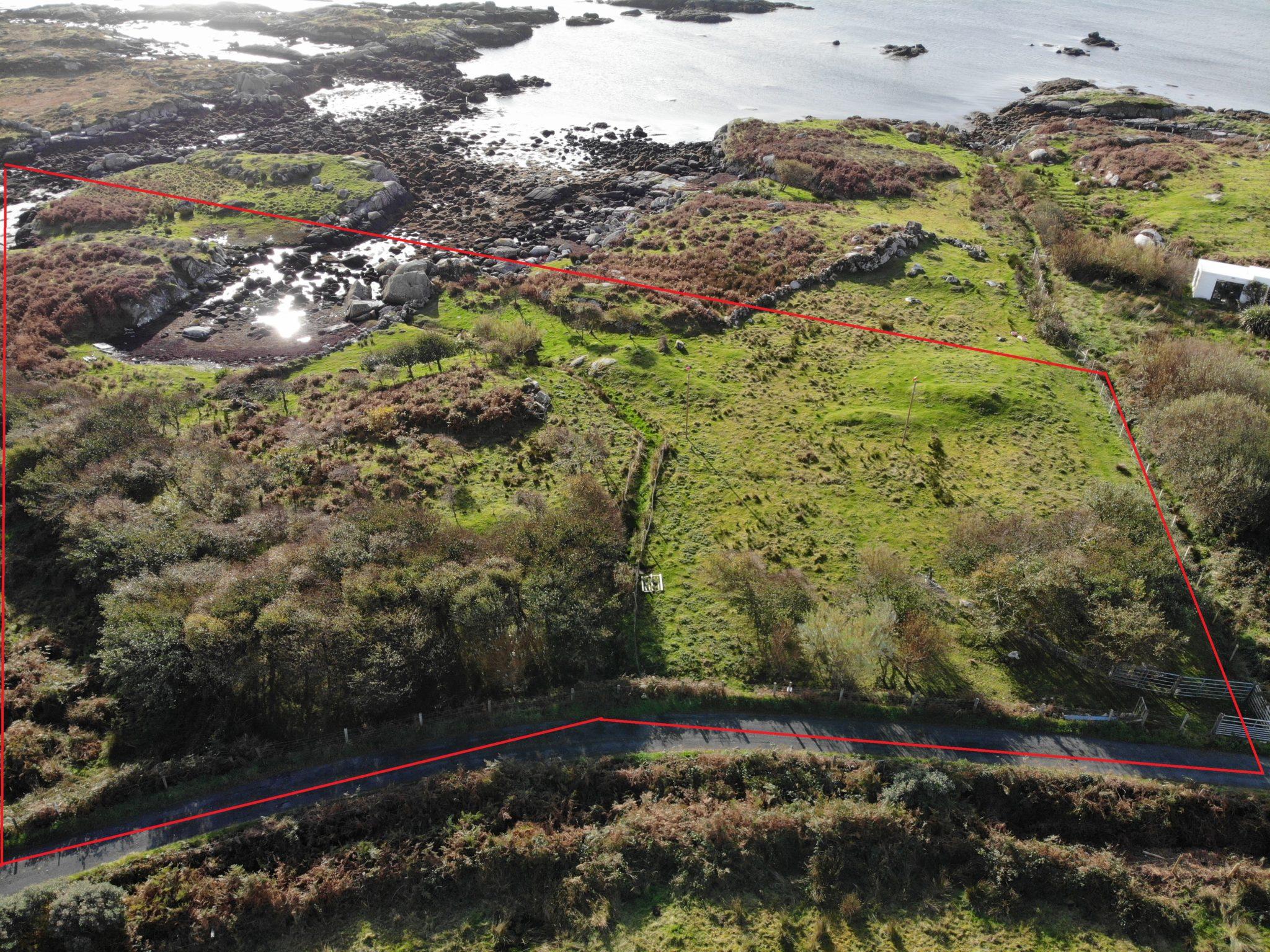 Glasbeggan Burtonport, Co. Donegal -Development Land For Sale – 0.75 acres.