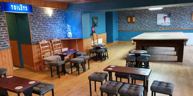 Petes Pub main lounge floor dance ith snooker 2020