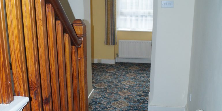 Sisters Carnmore Rd hallway facing south with stairs Oct 2020