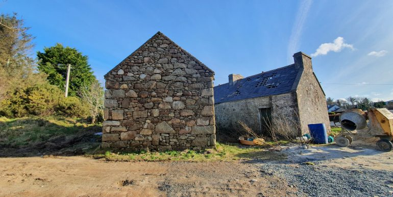 Sean Mc Bride - Old house and stone shed.