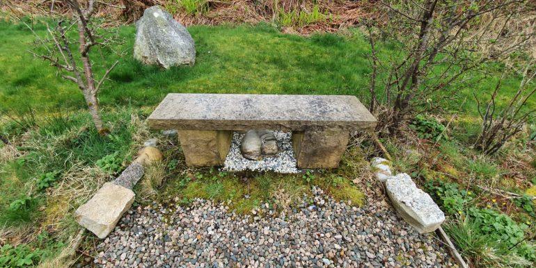 Liz & Jim R. garden seat.
