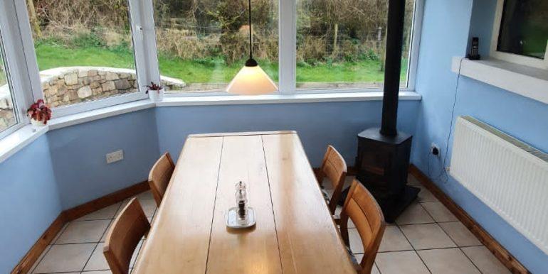 Liz & Jim - dining area table