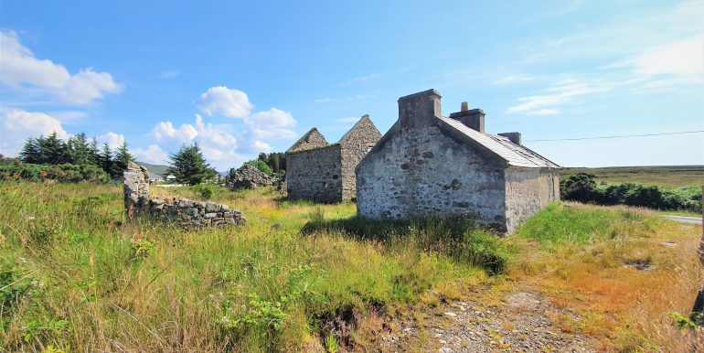 Stranabrooey Cottage eastern aspect.