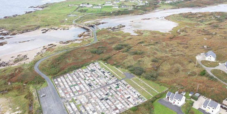 No 3 Belcruit aerial showing bridge and Cruit Island